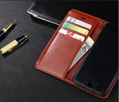 black leather iphone 6 and 6 plus phone wallets case with a card holder ips614 7