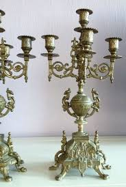 couple of heavy louis xv chandeliers with 5 lights appr 1890