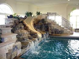 Perfect Indoor Pool House With Slide Pools Will Make You Go To Models Ideas
