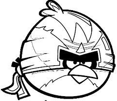 Small Picture Angry birds coloring pages big bird ninja ColoringStar
