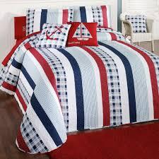 hatteras stripe grande bedspread white