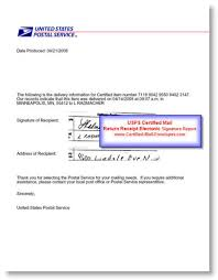 Signatures Certified Mail Envelopes