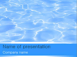 Blue Powerpoint Theme Download Free Blue Water Powerpoint Template For