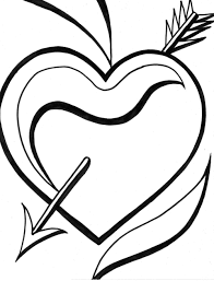 heart coloring pages 3 coloring page of a heart heart u0026amp bird coloring page on arrow templates cute big