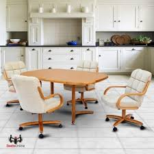 dinette sets chairs with casters. chromcraft c117-936 and t324-456 laminate table dinette set sets chairs with casters