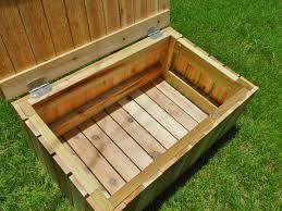 wooden lockable garden storage box designs