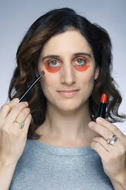 during claire pictured bravely opted to try out the new beauty craze sweeping