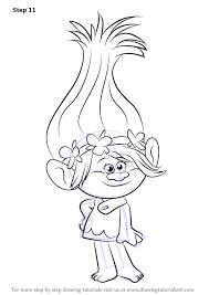 Learn How To Draw Princess Poppy From Trolls Trolls Step By Step