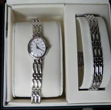 ladies rotary bracelet set silver watch lb20061 br 02 watch this silver rotary evening watch is simple elegant and dressy out being in the least showy it has a quartz movement and comes an international
