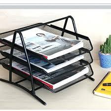 office desk trays metal mesh 3 tier doent tray frame paper files holder sorting rack home filing