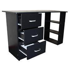 home office desks wood. Computer Desk Table Workstation Black PC Study 3 Drawers Shelves Office Home Desks Wood R