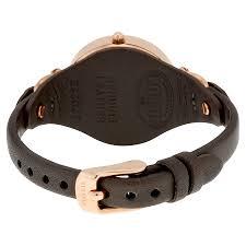 fossil georgia grey dial leather strap las watch