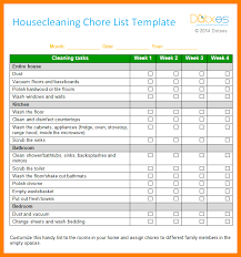 Weekly Chores List Template 9 Chore List Template Weekly Template