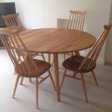ercol red retro blonde round dining table 4 ercol windsor chairs stunning