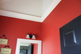room paint red: hot red and white walls as wall  red wall room
