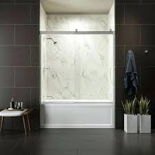 half glass shower door for bathtub doors home depot sliding tubs hinged tub trackless