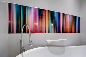 bathroom wall art in abstract stripes