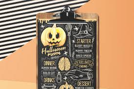 Halloween Menu Design Halloween Party Food Menu