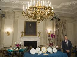 jeremy bernard speaks about the japanese state dinner in the state dining room of the white house in 2016 on the eve of the dinner