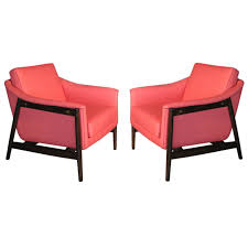 pair folke ohlsson swedish lounge chairs c 1950 s