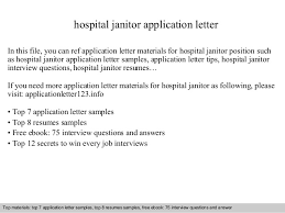 Janitor Cover Letter Sample   Resume Companion
