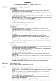 marketing manager resume direct marketing manager resume samples velvet jobs