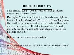 law and morality 6 sources of morality