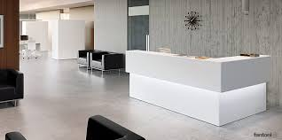 fantoni office furniture. Corner Reception Counter With Tops And Edges Angled At 45 Degrees. Full Cable Management Down-light. Matching Range Of Office Desks Meeting Tables. Fantoni Furniture