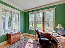 green home office. Delighful Green Traditional Home Office With Green Walls Large Windows And Hardwood  Flooring A Rustic Rug Inside Green Home Office