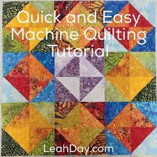 Machine Quilting a Baby Quilt Quickly and Easily | LeahDay.com & Quick and Easy Machine Quilting Tutorial Adamdwight.com