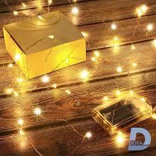 Đèn led đom đóm DEHA trang trí dùng 3 pin tiểu có chế độ nhấp nháy plash  dài 10 mét hoặc 5 mét