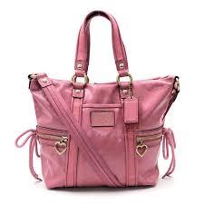 brandvalue coach coach bag poppy pink patent leather handbag 2way bag lady f20047 v39183 rakuten global market