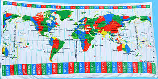 Time Map Time Zones Map Elamp