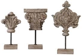 uttermost marta wood sculptures set of