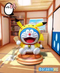 Doraemon & Doraemon Cosplay Pikachu Doraemon Hình Pokemon Anime, 58028