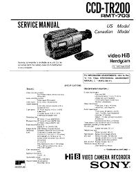 sony ccd tr200 service manual schematics eeprom sony ccd tr200 service manual