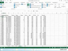 Post Payroll Data From Excel To Sage 200