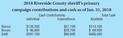 Riverside Sheriff Org Chart Sniff Has Big Lead In Campaign Contributions Race