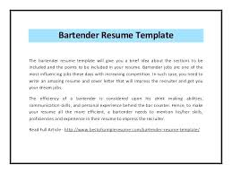 Resumes And Cover Letters Gorgeous Sample Cover Letter For Bartender Resume Reference Popular R