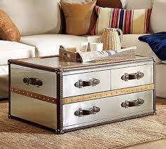 ... Steamer Trunk Coffee Table Stainless Steel ...