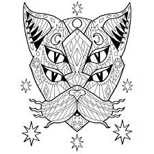 Small Picture Adult Coloring PDF Cat Coloring Page Good Vibes Only Stress