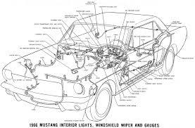vintage mustang wiring diagrams lighting schematics · 66 interior lighting detail