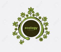 Ecology Theme Earth Day Flyer Template Bright Green Trees And
