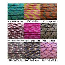 Paracord Color Chart 13 Design Craft Handmade Goods
