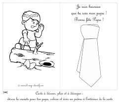 Coloriage Educatif Cartes D Couper F Te Des Papa Carte Avec Un