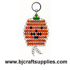 Beaded Keychain Patterns Amazing Beaded Pumpkin Key Chain