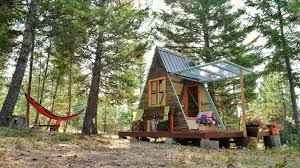 an a frame cabin that s as tiny as it is inexpensive photographer alla ponomareva and her husband built this 80 sq ft guesthouse using plans from relax
