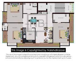 30 x 40 3bhk 3s floor plan