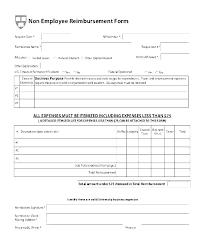 Expense Reimbursement Form Templates Employee Expense Reimbursement Template Employee Expense