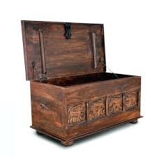 wooden storage trunks and chests trunk in walnut of drawers outdoor chest uk